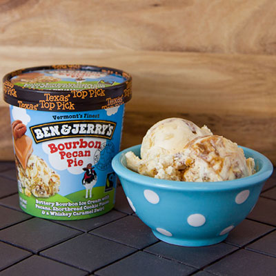 Pint of Ben & Jerry's Bourbon Pecan Pie ice cream